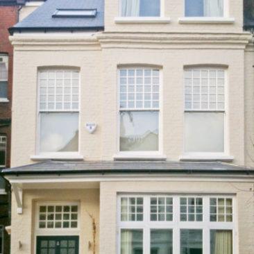 Double Glazed Box Sash Windows with applied narrow bars